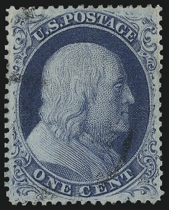 Sale Number 982, Lot Number 5103, 1c-3c 1857-60 Issue (Scott 18-26A)1c Blue, Ty. III (21), 1c Blue, Ty. III (21)