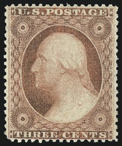 Sale Number 982, Lot Number 5117, 1c-3c 1857-60 Issue (Scott 18-26A)3c Dull Red, Ty. III (26), 3c Dull Red, Ty. III (26)