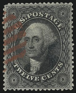 Sale Number 982, Lot Number 5147, 10c-90c 1857-60 Issue (Scott 31-39)12c Black, Plate 1 (36), 12c Black, Plate 1 (36)