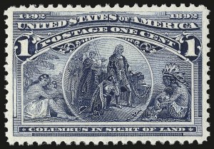 Sale Number 982, Lot Number 5535, 1893 Columbian Issue (1c thru 8c, Scott 230-236)1c Columbian (230), 1c Columbian (230)