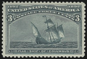 Sale Number 982, Lot Number 5538, 1893 Columbian Issue (1c thru 8c, Scott 230-236)3c Columbian (232), 3c Columbian (232)
