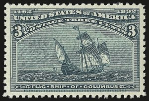 Sale Number 982, Lot Number 5539, 1893 Columbian Issue (1c thru 8c, Scott 230-236)3c Columbian (232), 3c Columbian (232)