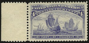 Sale Number 982, Lot Number 5541, 1893 Columbian Issue (1c thru 8c, Scott 230-236)4c Columbian (233), 4c Columbian (233)