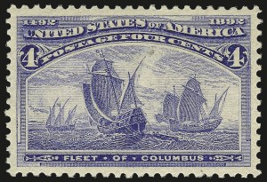 Sale Number 982, Lot Number 5542, 1893 Columbian Issue (1c thru 8c, Scott 230-236)4c Columbian (233), 4c Columbian (233)