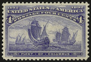 Sale Number 982, Lot Number 5543, 1893 Columbian Issue (1c thru 8c, Scott 230-236)4c Columbian (233), 4c Columbian (233)