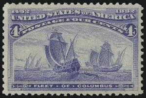 Sale Number 982, Lot Number 5545, 1893 Columbian Issue (1c thru 8c, Scott 230-236)4c Columbian (233), 4c Columbian (233)