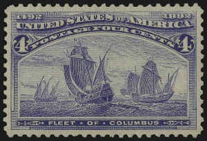 Sale Number 982, Lot Number 5546, 1893 Columbian Issue (1c thru 8c, Scott 230-236)4c Columbian (233), 4c Columbian (233)