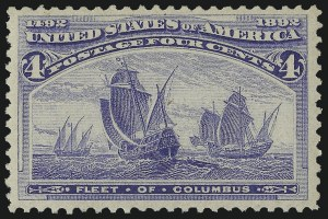 Sale Number 982, Lot Number 5547, 1893 Columbian Issue (1c thru 8c, Scott 230-236)4c Columbian (233), 4c Columbian (233)