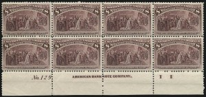 Sale Number 982, Lot Number 5559, 1893 Columbian Issue (1c thru 8c, Scott 230-236)8c Columbian (236), 8c Columbian (236)