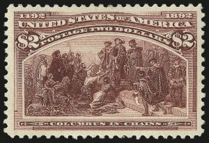 Sale Number 982, Lot Number 5582, 1893 Columbian Issue ($2.00 thru $5.00, Scott 242-245)$2.00 Columbian (242), $2.00 Columbian (242)