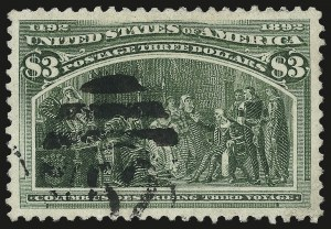 Sale Number 982, Lot Number 5587, 1893 Columbian Issue ($2.00 thru $5.00, Scott 242-245)$3.00 Columbian (243), $3.00 Columbian (243)