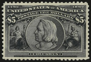 Sale Number 982, Lot Number 5592, 1893 Columbian Issue ($2.00 thru $5.00, Scott 242-245)$5.00 Columbian (245), $5.00 Columbian (245)