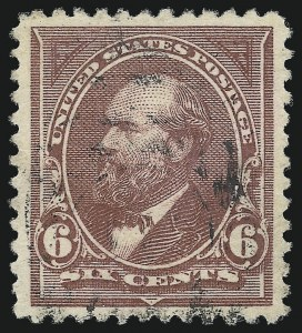 Sale Number 982, Lot Number 5599, 1894 Unwatermarked Bureau Issue (Scott 246-263)6c Dull Brown (256), 6c Dull Brown (256)