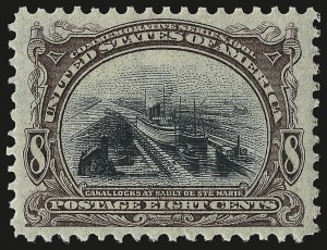 Sale Number 982, Lot Number 5666, 1901 Pan-American Issue (Scott 294-299)8c Pan-American (298), 8c Pan-American (298)