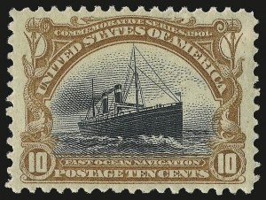 Sale Number 982, Lot Number 5668, 1901 Pan-American Issue (Scott 294-299)10c Pan-American (299), 10c Pan-American (299)