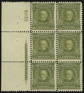 Sale Number 982, Lot Number 5687, 1902-08 Issues (Scott 300-322)15c Olive Green (309), 15c Olive Green (309)