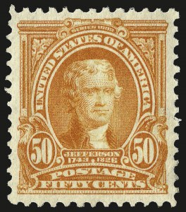 Sale Number 982, Lot Number 5689, 1902-08 Issues (Scott 300-322)50c Orange (310), 50c Orange (310)