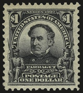 Sale Number 982, Lot Number 5691, 1902-08 Issues (Scott 300-322)$1.00 Black (311), $1.00 Black (311)