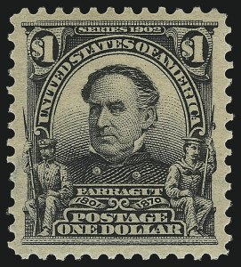 Sale Number 982, Lot Number 5693, 1902-08 Issues (Scott 300-322)$1.00 Black (311), $1.00 Black (311)