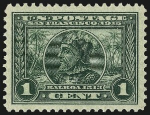 Sale Number 982, Lot Number 5781, 1913-15 Panama-Pacific Issue (Scott 397-404)1c Panama-Pacific (397), 1c Panama-Pacific (397)