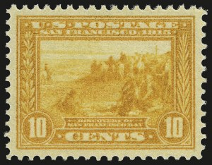 Sale Number 982, Lot Number 5785, 1913-15 Panama-Pacific Issue (Scott 397-404)10c Orange Yellow, Panama-Pacific (400), 10c Orange Yellow, Panama-Pacific (400)