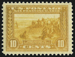 Sale Number 982, Lot Number 5786, 1913-15 Panama-Pacific Issue (Scott 397-404)10c Orange Yellow, Panama-Pacific (400), 10c Orange Yellow, Panama-Pacific (400)
