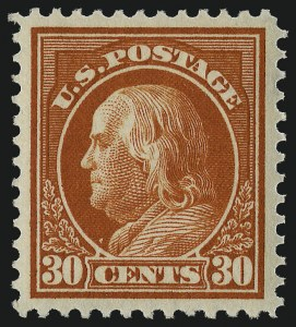 Sale Number 982, Lot Number 5804, 1912-14 Washington-Franklin Issue (Scott 405-423)30c Orange Red (420), 30c Orange Red (420)