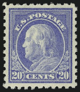 Sale Number 982, Lot Number 5824, 1913-15 Washington-Franklin Issues (Scott 424-460)20c Ultramarine (438), 20c Ultramarine (438)