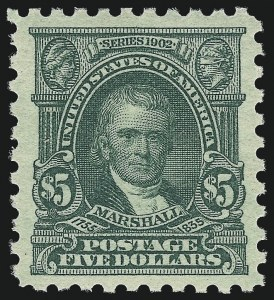 Sale Number 982, Lot Number 5881, 1916-17 Issues (Scott 461-480)$5.00 Light Green (480), $5.00 Light Green (480)