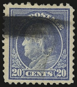 Sale Number 982, Lot Number 5905, 1917-19 Issues (Scott 481-524)20c Light Ultramarine, Perf 10 at Top (515d), 20c Light Ultramarine, Perf 10 at Top (515d)