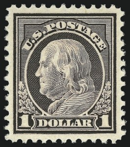 Sale Number 982, Lot Number 5909, 1917-19 Issues (Scott 481-524)$1.00 Violet Brown (518), $1.00 Violet Brown (518)
