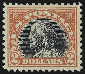 Sale Number 982, Lot Number 5913, 1917-19 Issues (Scott 481-524)$2.00 Orange Red & Black (523), $2.00 Orange Red & Black (523)