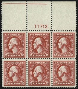 Sale Number 982, Lot Number 5919, 1918-20 Offset Printing Issues (Scott 525-536)2c Carmine, Ty. VI (528A), 2c Carmine, Ty. VI (528A)