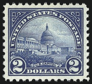 Sale Number 982, Lot Number 5955, 1922-29 Issues (Scott 551-573)$2.00 Deep Blue (572), $2.00 Deep Blue (572)