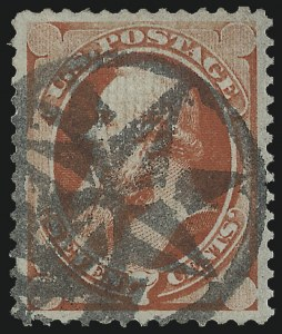 Sale Number 1000, Lot Number 1089, 1870-88 Bank Note Issues7c Vermilion, Grill (138), 7c Vermilion, Grill (138)