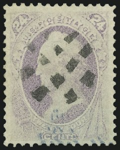 Sale Number 1000, Lot Number 1090, 1870-88 Bank Note Issues24c Purple, Grill (142), 24c Purple, Grill (142)