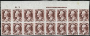 Sale Number 1000, Lot Number 1091, 1870-88 Bank Note Issues6c Carmine, Plate Proof on India (148P3), 6c Carmine, Plate Proof on India (148P3)