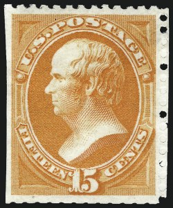 Sale Number 1000, Lot Number 1099, 1870-88 Bank Note Issues15c Bright Orange, Special Printing (174), 15c Bright Orange, Special Printing (174)