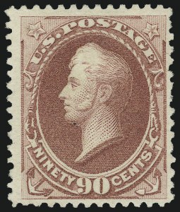 Sale Number 1000, Lot Number 1101, 1870-88 Bank Note Issues90c Dull Carmine, Special Printing (202), 90c Dull Carmine, Special Printing (202)