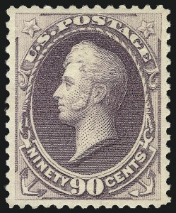Sale Number 1000, Lot Number 1104, 1870-88 Bank Note Issues90c Purple (218), 90c Purple (218)