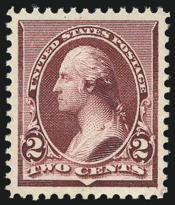 Sale Number 1000, Lot Number 1105, 1890-93 Issue2c Lake (219D), 2c Lake (219D)