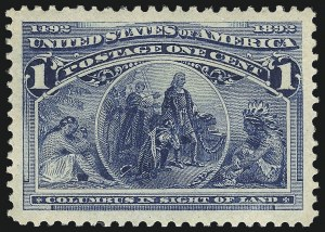 Sale Number 1000, Lot Number 1114, 1893 Columbian Issue (1c-50c)1c Columbian (230), 1c Columbian (230)