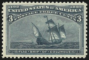 Sale Number 1000, Lot Number 1117, 1893 Columbian Issue (1c-50c)3c Columbian (232), 3c Columbian (232)