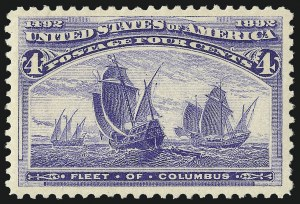 Sale Number 1000, Lot Number 1120, 1893 Columbian Issue (1c-50c)4c Columbian (233), 4c Columbian (233)