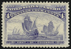 Sale Number 1000, Lot Number 1121, 1893 Columbian Issue (1c-50c)4c Columbian (233), 4c Columbian (233)