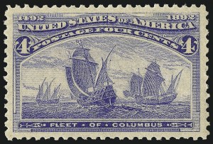 Sale Number 1000, Lot Number 1122, 1893 Columbian Issue (1c-50c)4c Columbian (233), 4c Columbian (233)