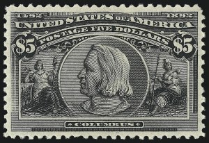 Sale Number 1000, Lot Number 1144, 1893 Columbian Issue (Dollar Values)$5.00 Columbian (245), $5.00 Columbian (245)