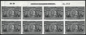 Sale Number 1000, Lot Number 1145, 1893 Columbian Issue (Dollar Values)$5.00 Columbian, Plate Proof on India (245P3), $5.00 Columbian, Plate Proof on India (245P3)
