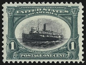 Sale Number 1000, Lot Number 1169, 1901 Pan-American Issue1c Pan-American (294), 1c Pan-American (294)