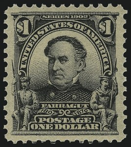 Sale Number 1000, Lot Number 1187, 1902-08 Issue$1.00 Black (311), $1.00 Black (311)